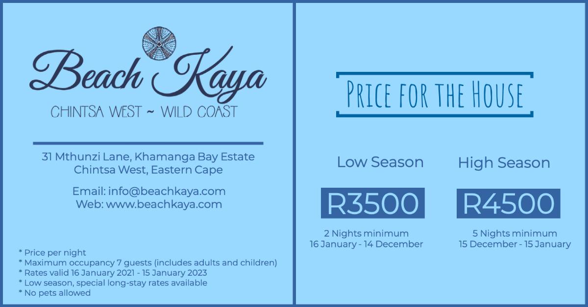 BeachKaya Rates